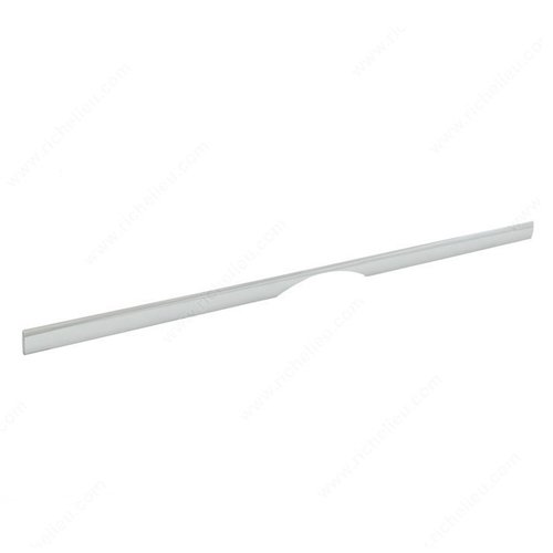 Cut Out 25-3/16 Inch Center to Center Chrome Cabinet Pull <small>(#58731600140)</small>