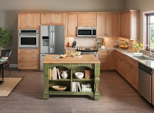 "Jeffrey Alexander 53"" Tuscan Kitchen Island w/o Top - Aqua Green ISL01-AQU"