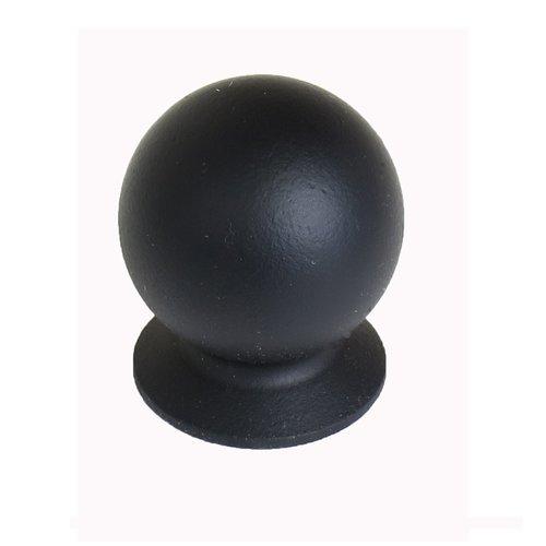 """Acorn Manufacturing Vitruvius Knob 1-1/8"""" Dia Matte Black PMCB3"""