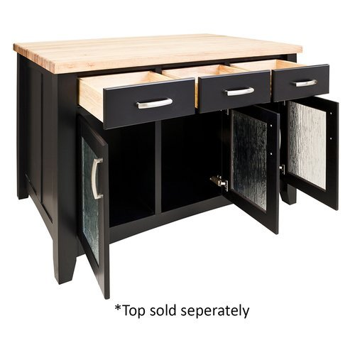 Jeffrey Alexander 52 Inch Contemporary Kitchen Island Without Top
