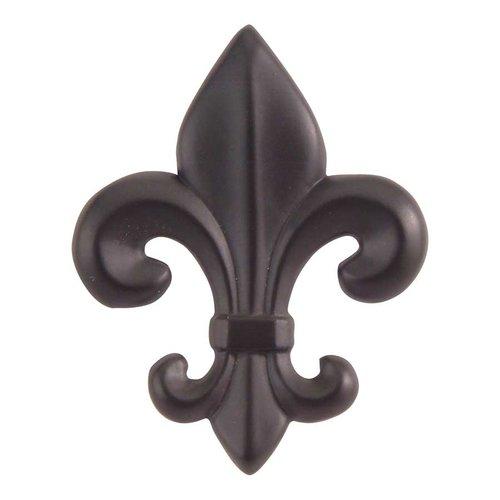 Atlas Homewares Fleur D'Lis 2-1/4 Inch Diameter Aged Bronze Cabinet Knob 4006-O