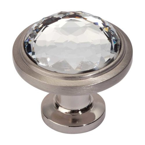 Atlas Homewares Legacy Crystal 1-5/16 Inch Diameter Brushed Nickel Cabinet Knob 343-BRN