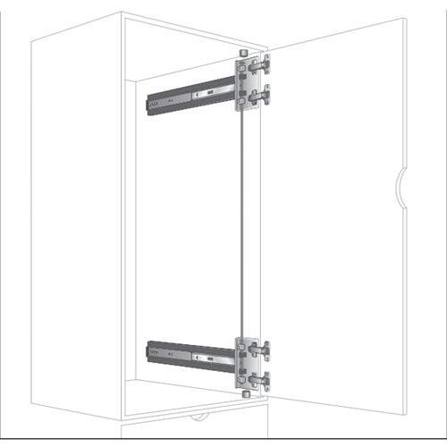 """Knape and Vogt KV 8092 4X4 Pocket Door Slide 24"""" 8092P EB 24"""