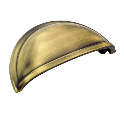 Cup Pulls 3 Inch Center to Center Elegant Brass Cabinet Cup Pull <small>(#BP53010EB)</small>