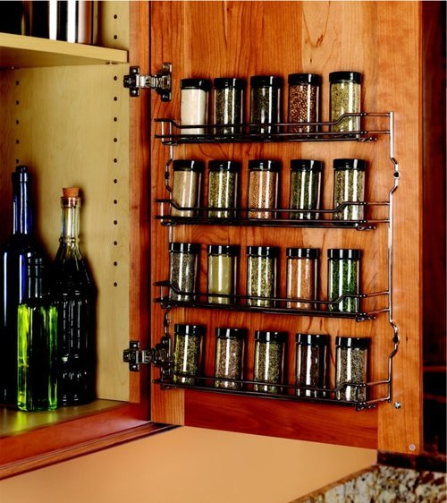 Kessebohmer Spice Rack 15-3/8 inch Wide Chrome Finish 543.19.280