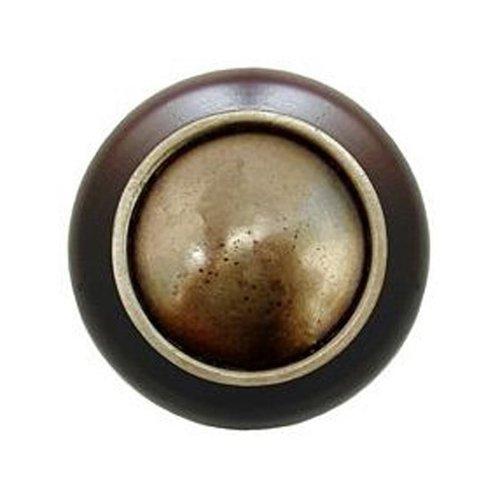 Notting Hill Classic 1-1/2 Inch Diameter Antique Brass Cabinet Knob NHW-761W-AB