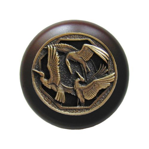 Arts & Crafts 1-1/2 Inch Diameter Antique Brass Cabinet Knob <small>(#NHW-737W-AB)</small>