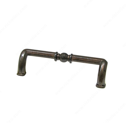 Richelieu Povera 3-3/4 Inch Center to Center Shiny Spotted Bronze Cabinet Pull 49496148