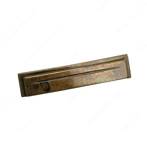 Richelieu Zen Garden 3-3/4 Inch Center to Center Oxidized Brass Cabinet Cup Pull 1513796163