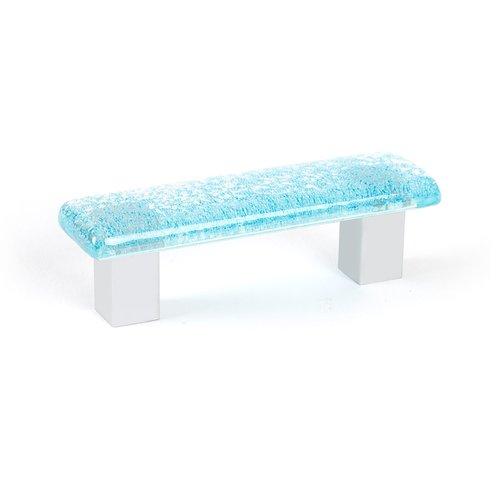 R. Christensen Aqua 2-1/2 Inch Center to Center Light Blue Cabinet Pull 4151-1000-C