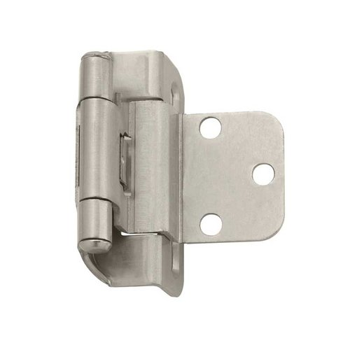 Amerock Partial Wrap 3/8 inch Inset Hinge Satin Nickel - Per Pair BPR7565G10