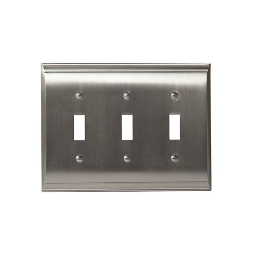 Amerock Candler Three Toggle Wall Plate Satin Nickel BP36502G10