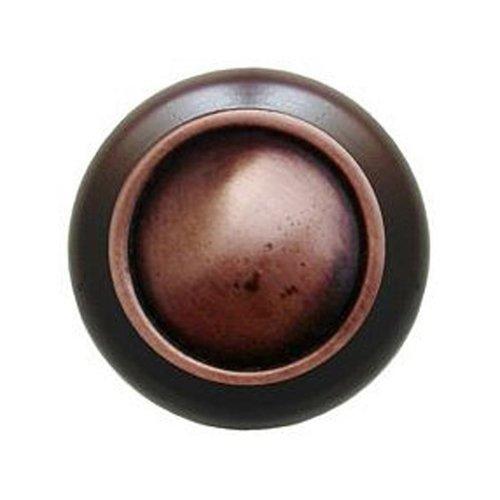Notting Hill Classic 1-1/2 Inch Diameter Antique Copper Cabinet Knob NHW-761W-AC