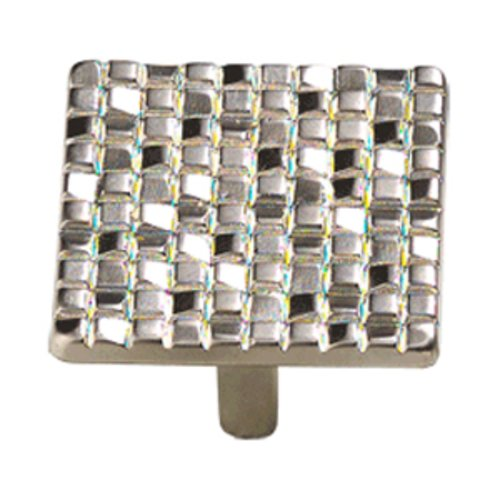 Schaub and Company Italian Designs Mosaic 1-7/8 Inch Diameter Satin Nickel Cabinet Knob 234-15