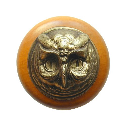 Notting Hill Great Outdoors 1-1/2 Inch Diameter Antique Brass Cabinet Knob NHW-711M-AB