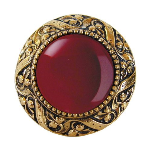 Notting Hill Jewel 1-5/16 Inch Diameter Brite Brass Cabinet Knob NHK-124-BB-RC