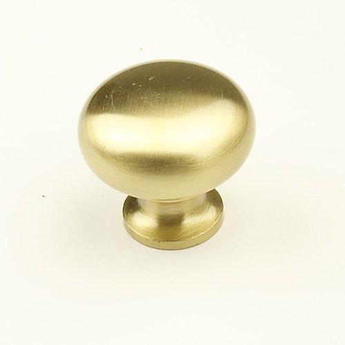 Century Hardware Elite 1-1/4 Inch Diameter Satin Brass Cabinet Knob 12405-4