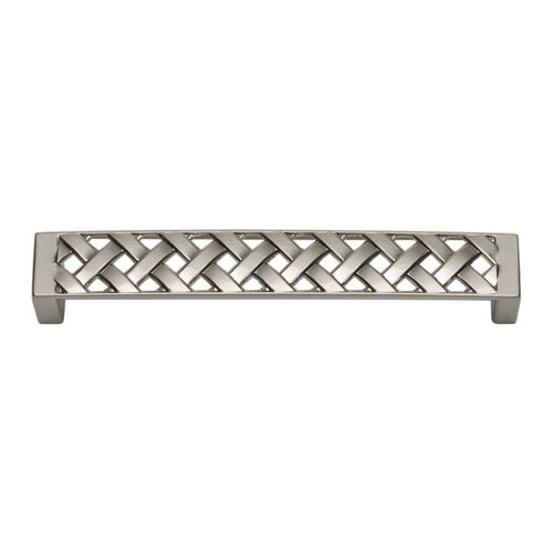 Atlas Homewares Lattice 5-1/16 Inch Center to Center Brushed Nickel Cabinet Pull 311-BRN