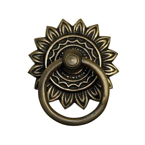 Gado Gado Ring Pulls 3 Inch Diameter Unlacquered Antique Brass Cabinet Ring Pull HRP6026