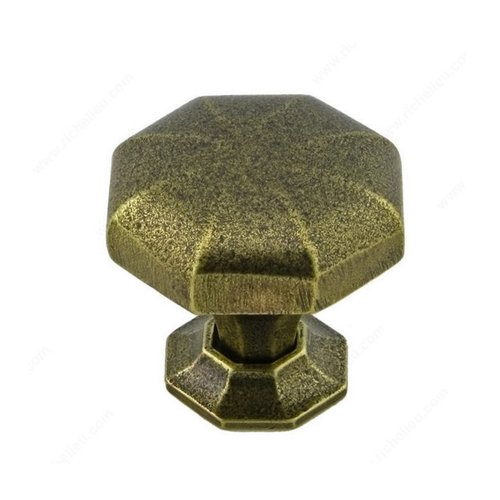 Richelieu Traditional Cast Iron 1-1/4 Inch Diameter English Bronze Cabinet Knob 388532132