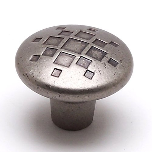 Overture 1-5/16 Inch Diameter Rustic Nickel Cabinet Knob <small>(#7115-1RN-C)</small>