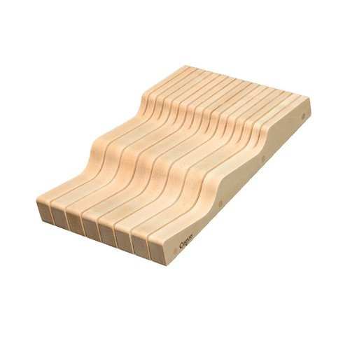 Century Components Wave Knife Block 9 inch W Maple WKB90PF