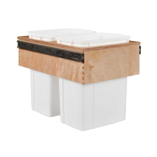 Century Components Double Trash Pullout 34 Quart Wood CASTM14PF