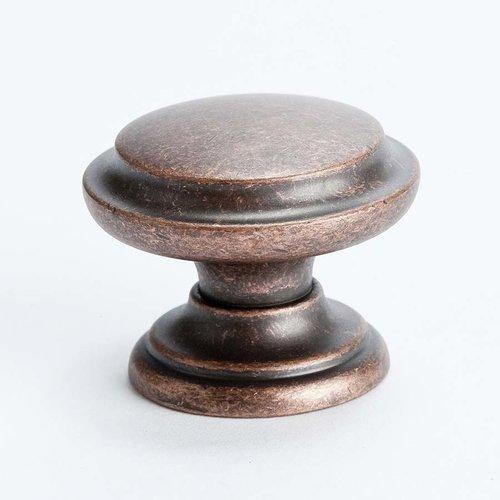 Berenson Euro Rustica 1-3/8 Inch Diameter Rustic Copper Cabinet Knob 2977-1RC-C