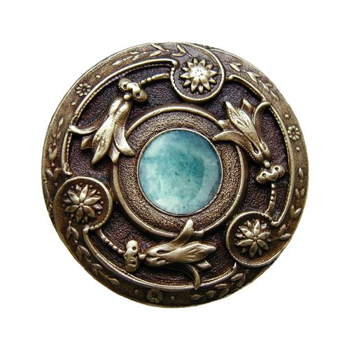 Notting Hill Jewel 1-1/4 Inch Diameter Antique Brass Cabinet Knob NHK-161-AB-GA