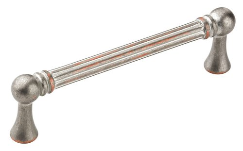 Amerock Vasari 3-3/4 Inch Center to Center Weathered Nickel Copper Cabinet Pull BP24012WNC