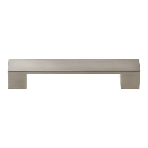 Atlas Homewares Wide Square Pull 128MM Center to Center Brushed Nickel A919-BN
