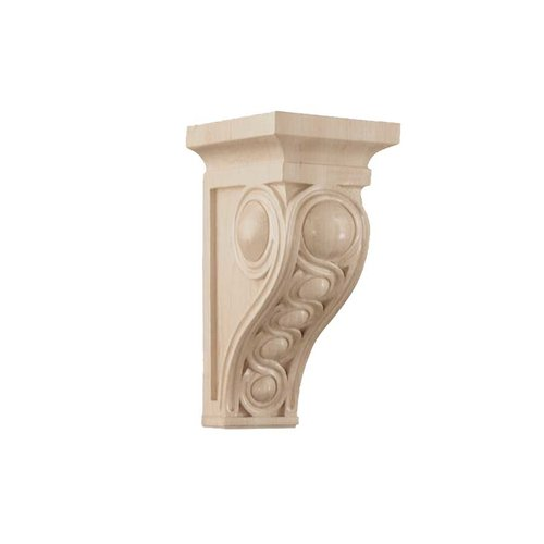 Brown Wood Medium Infinity Corbel Unfinished Hard Maple 01600937HM1