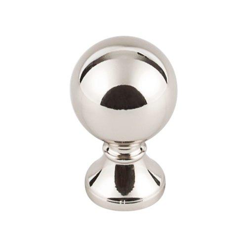 Top Knobs Serene 1 Inch Diameter Polished Nickel Cabinet Knob TK801PN