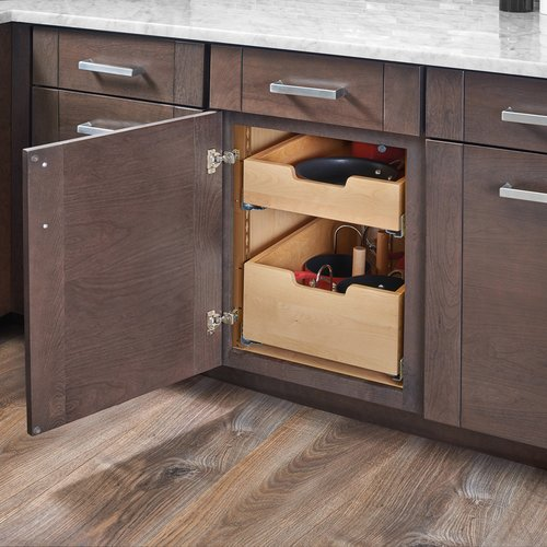 Kitchen Cabinet Drawer Kits: Rev-A-Shelf Pilaster Two Drawer Kit For 18 Inch Door