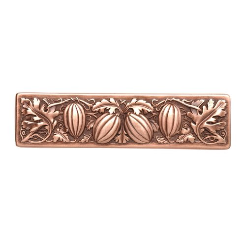 Notting Hill Kitchen Garden 3 Inch Center to Center Antique Copper Cabinet Pull NHP-651-AC