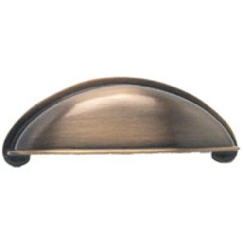 Berenson Euro Moderno 2-1/2 Inch Center to Center Brushed Antique Copper Cabinet Cup Pull 9711-1BAC-P