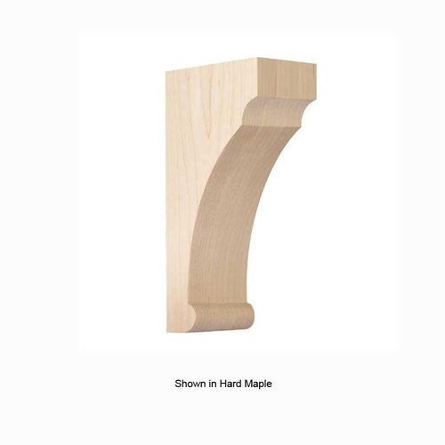 Brown Wood Medium Craftsman Corbel Unfinished Red Oak 01608010AK1