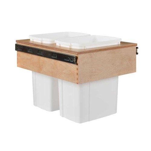 Century Components Double Trash Pullout 34 Quart Wood CASTM17PF