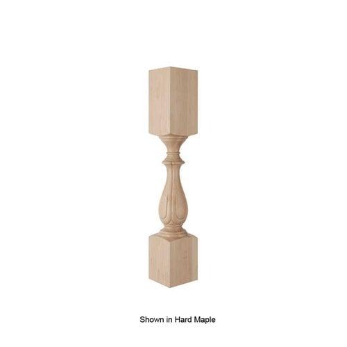 Brown Wood Fleur Column Unfinished Walnut 01520215WL1