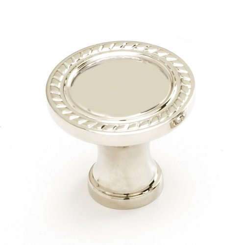 Montcalm Forged Solid Brass 1-3/8 Inch Diameter Polished Nickel Cabinet Knob <small>(#794-PN)</small>