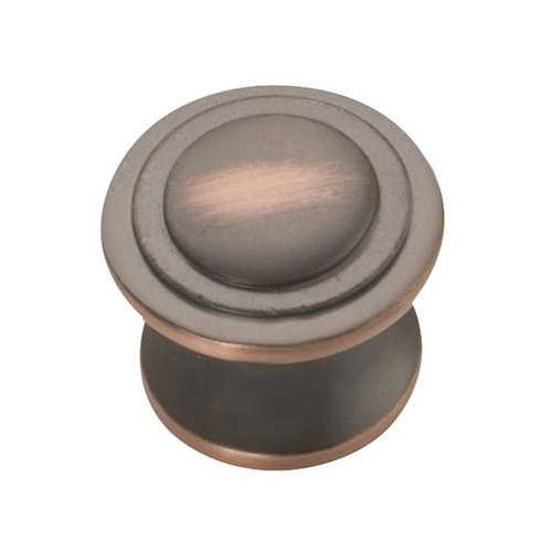 Hickory Hardware Deco 1-1/16 Inch Diameter Oil Rubbed Bronze Highlighted Cabinet Knob P3102-OBH