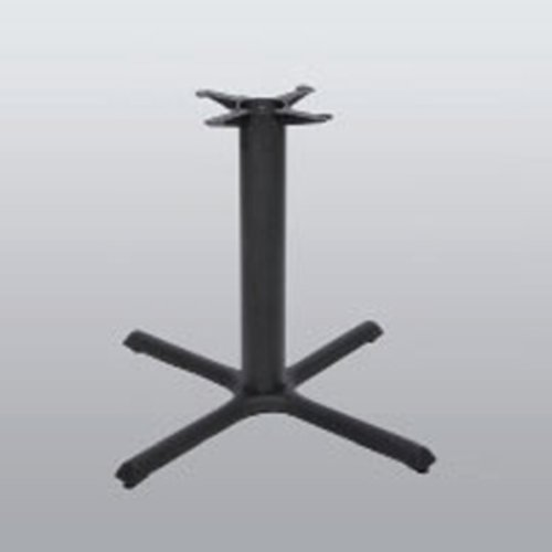 "Table Base 36"" x 36"" End Style X 28"" High-Black Matte Finish <small>(#2036-28-MT)</small>"