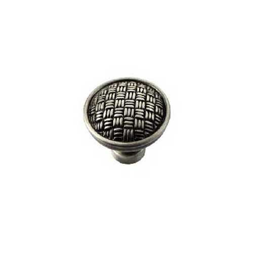 MNG Hardware Rattan 1-1/4 Inch Diameter Satin Antique Nickel Cabinet Knob 14511