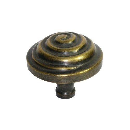Gado Gado Knobs 2 Inch Diameter Unlacquered Antique Brass Cabinet Knob HKN1014