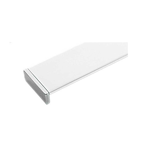 Linea 11-5/16 Inch Center to Center Chrome White Cabinet Pull <small>(#ZP0082.22)</small>