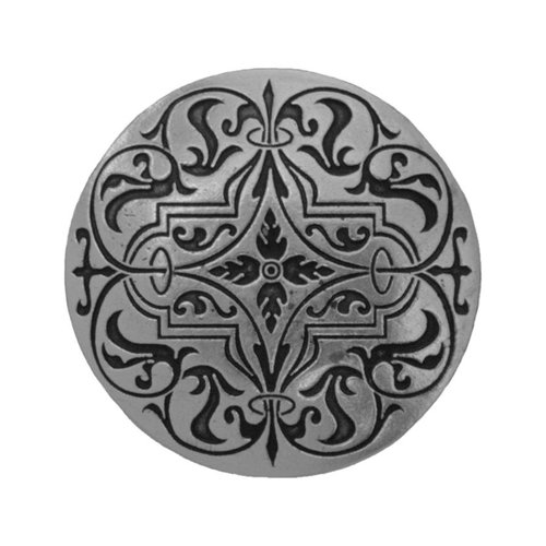 Notting Hill Olde Worlde 1-7/16 Inch Diameter Brilliant Pewter Cabinet Knob NHK-173-BP