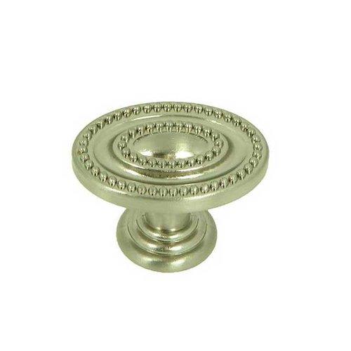 Stone Mill Hardware Palermo 1-1/2 Inch Diameter Satin Nickel Cabinet Knob CP80147B-SN