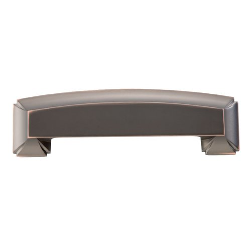 Hickory Hardware Bridges 5-1/16 Inch Center to Center Oil Rubbed Bronze Highlighted Cabinet Cup Pull P3234-OBH
