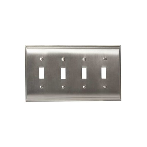 Amerock Candler Four Toggle Wall Plate Satin Nickel BP36503G10