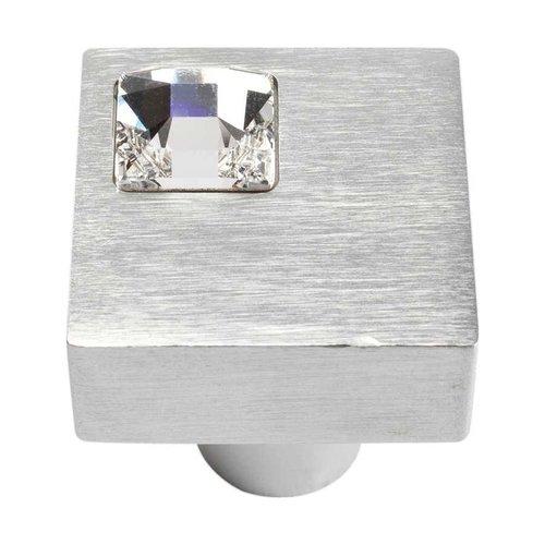Atlas Homewares Boutique Crystal 1 Inch Diameter Matte Chrome Cabinet Knob 3194-MC